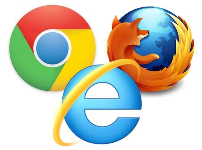 Chrome Firefox IE それぞれのアイコンマーク