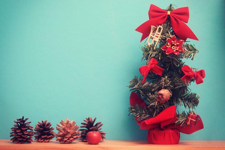 っクリスマスツリーの写真